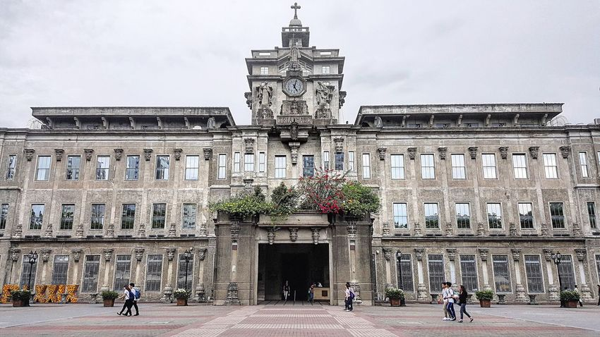 One gloomy day at the UST. Architecture Built Structure Travel Destinations Sculpture Day City University Philippines