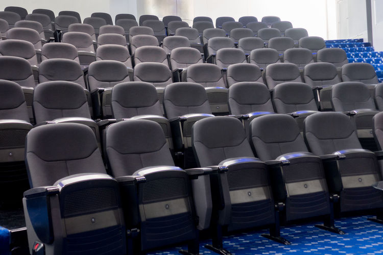 Empty seats in row at auditorium