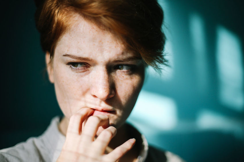 Adult Blue Day Emotion Emotional Photography EyeEm Gallery Freckle Freckleface Freckles Ginger Gingerhair Gingerhead Gingerismypassion Girl Girl Power Human Hand Inlove Love One Person Soul The Portraitist - 2017 EyeEm Awards Woman Portrait Young Adult Be. Ready. Stories From The City Inner Power