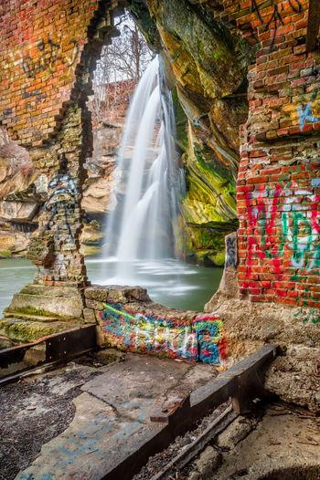 Urban Waterfall In Ohio