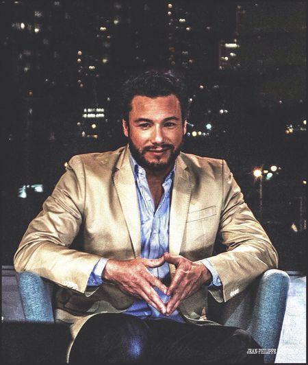 Tv Chef Rocco di Spiritto/NYC Foodie Celebrity Portraiture TV Chef Portrait Of A Man  City Lights Canon