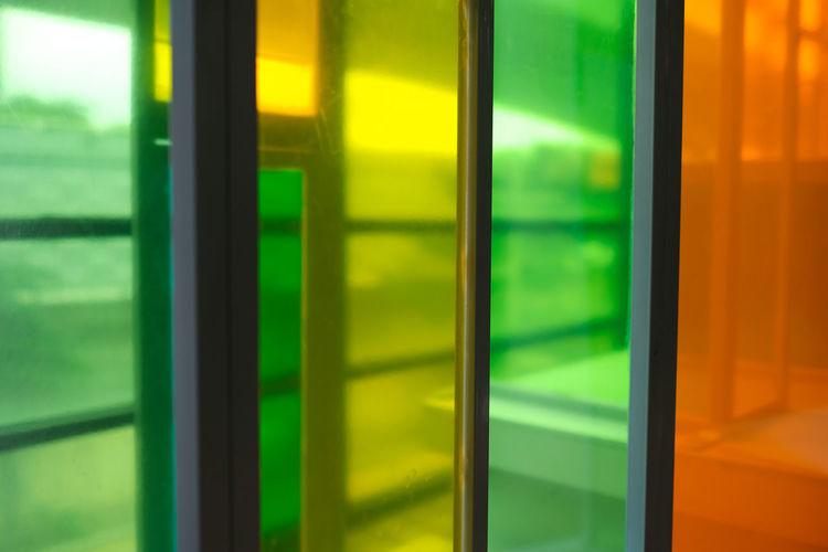 Full frame shot of glass window
