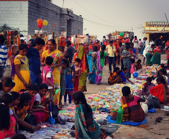 The Indian Fair People On The Street The Colours Of Life Village View
