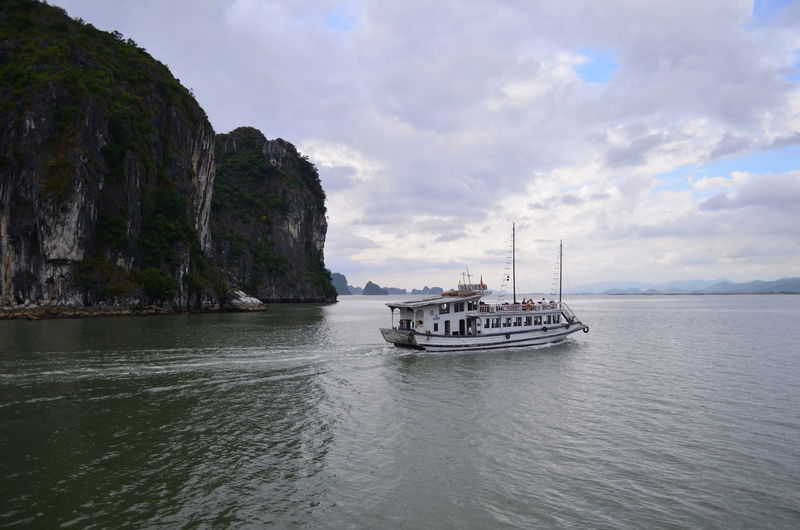 On a ferry to Cat Ba island Ferry Boat Ha Long Bay Cat Ba Island Vietnam Backpacking Adventures In The City