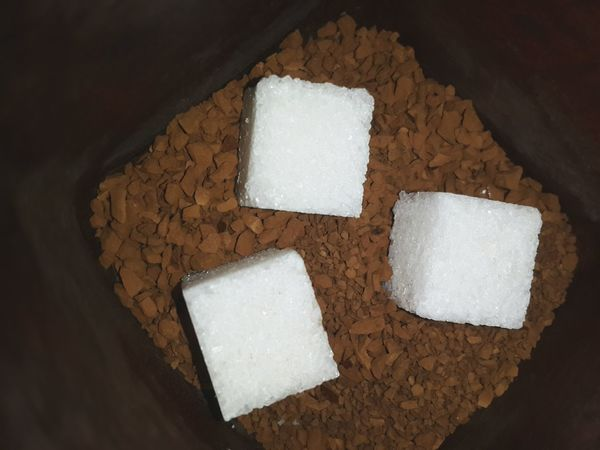 Shugar Coffee Food And Drink Food Healthy Eating No People Indoors  SLICE Directly Above