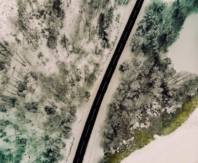 Bird Eye View Bird Eyes View DJI X Eyeem Mavic Air La Terre Vue Du Ciel Sweden Snow Drone Photography Drone  No People Day Pattern High Angle View Nature Outdoors Land Textured  Wall - Building Feature Plant Full Frame Built Structure Directly Above