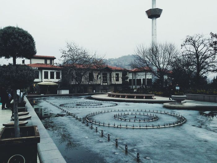 Courtyard of Ankara's central mosque Building Exterior Day Outdoors No People Sky Built Structure Tree Water Nature EyeEm Nature Lover EyeEm Best Edits EyeEm Best Shots EyeEm Masterclass EyeEm Best Shots - Architecture Pool Courtyard  Mosque Capital Cities  Turkey Blue Grey Frozen Cold Cool Wet