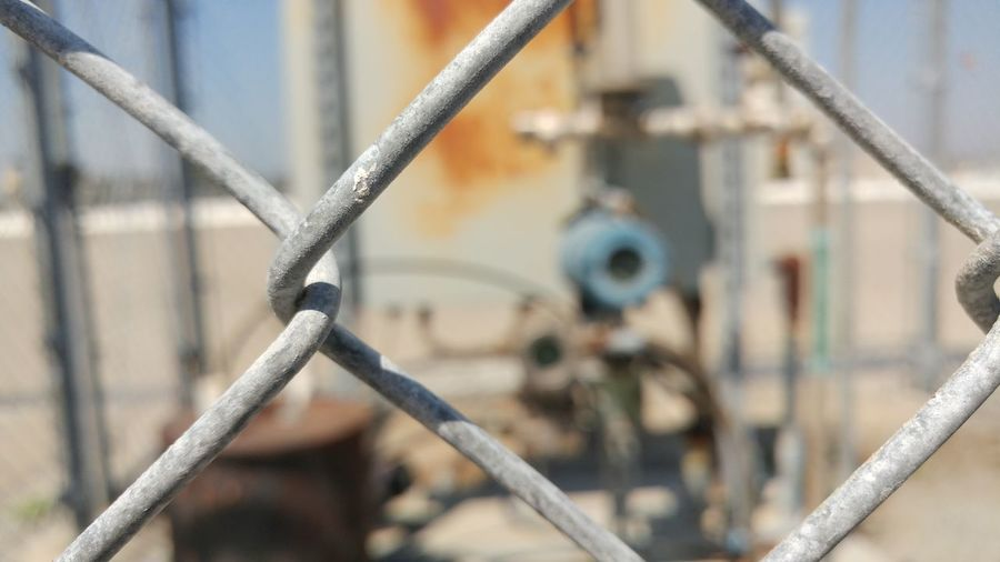 Chainlink Fence Close-up Metal Grid No People Iron - Metal