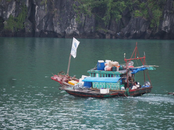 Ha Long bay. Nautical Vessel Mode Of Transportation Water Beauty In Nature Fishing Boat Sea