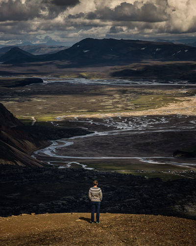 Genesis One Person Landscape Outdoors Adults Only Adult Standing Nature Mountain Beauty In Nature Lost In The Landscape Iceland Iceland_collection Adults Only