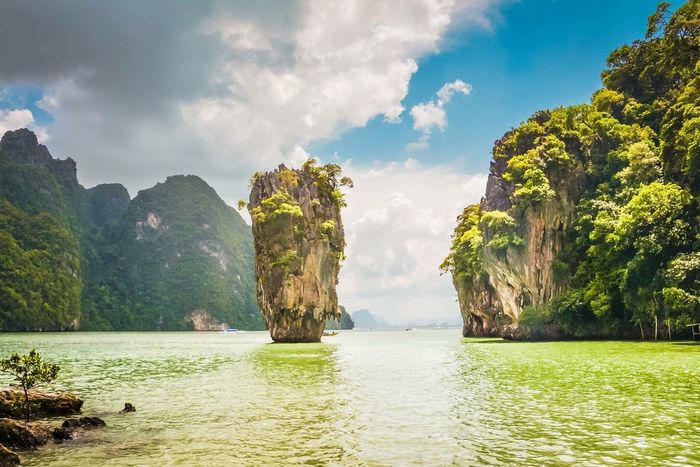 How I Long To Be Back In Paradise Scenics Beauty In Nature Tranquility Sea Landscape Cloud - Sky Nikonphotography Check This Out Relaxing Paradise Beautiful Phuket Thailand James Bond Island