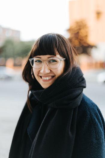 Portrait of woman smiling