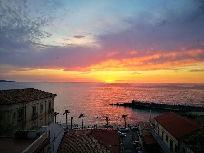 Calabria (Italy) Pizzo Calabro City Sea Beach Cityscape Summer Sun Sky Romantic Sky