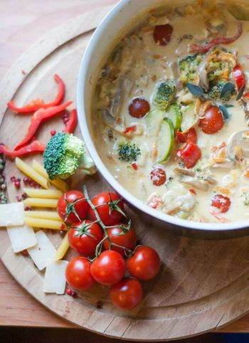 What's For Dinner? Pennette Primavera with Brie Sauce