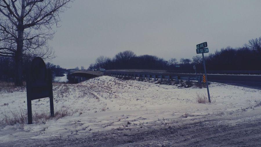 January 6, 2016 QVHoughPhoto FujiFilmX100 Fargo Northdakota Winter Snow Road Urban3