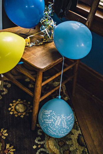 Close-up of balloons on table