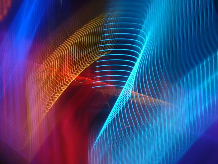 Full frame shot of multi colored light pattern