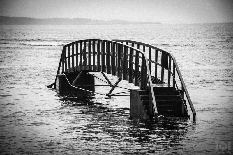 Bridge Sea Nature Built Structure Water Tide Outdoors Horizon Over Water Architecture Scotland Black & White