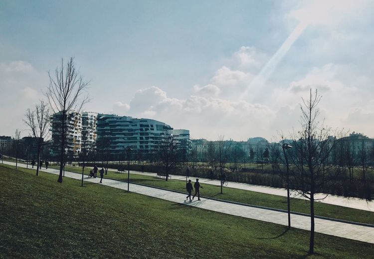 City Life Milan Milano Architecture Builfing Exterior Built Structure City Cloud - Sky Day Grass Italy Outdoor Photography Outdoors Sky Tree