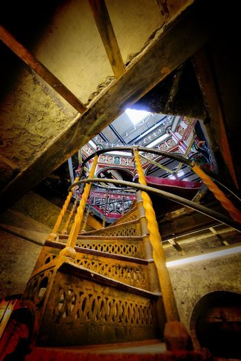 Crossness Pumping Station Indoors  Low Angle View Architecture Ceiling Built Structure No People Place Of Worship