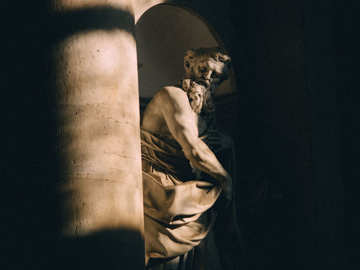Zeus Dark Darkroom Side View Statue Still Life StillLifePhotography Sunlight And Shadow Sunlight, Shades And Shadows