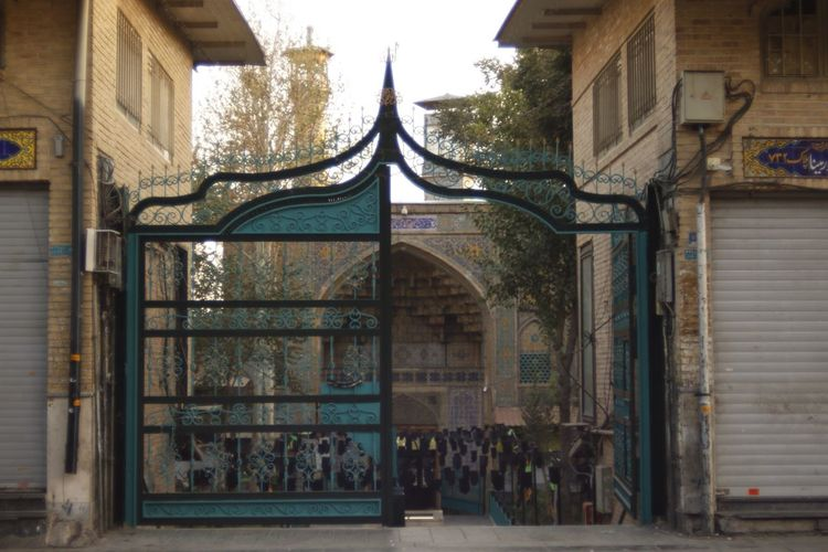 Tehran Iran Blue Gate Old Mosque Architecture No People Entrance Place Of Worship