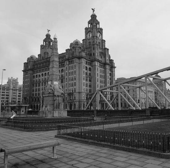 Royal liver building in city