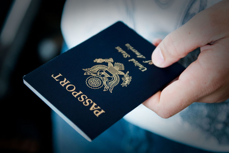 Passport in hand close up Close-up Human Body Part Human Hand Id Identification Indoors  Passport People Security Travel