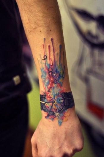 Blackandwhite Tattoos Color Portrait Tattoo People
