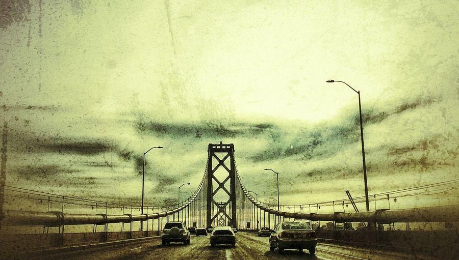 Westbound... Bay Bridge San Francisco-oakland Bay Bridge San Francisco Bay Bridge Oakland Bay Bridge Bridge Traffic Rush Hour Cars Automobiles Transportation San Francisco Snapseed