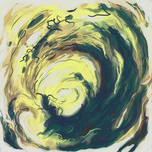 ... Yellow Storm ... a little Abstract Digital Sketch ... Concentric Backgrounds Swirl Art ArtWork My Art набросок рисунок абстракция циклон Arte