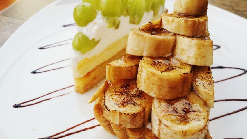 Tart banana and white grapes