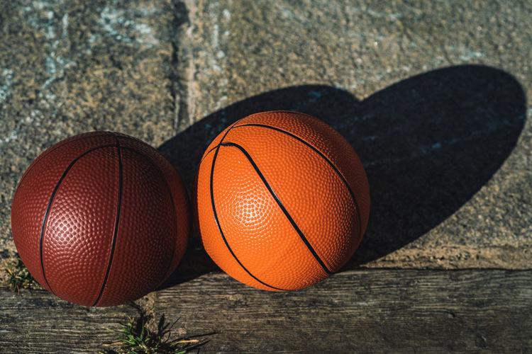 High angle view of basketball hoop