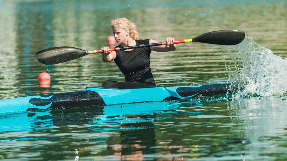 16:9 Athlete Cool Females Girl Power Kayaking Rowing Water Sport Woman Black Blue Female Female Athlete Girl Kayak Kayaker Kayakingadventures Lake Real People Sport Sport Rowing Water Water Sports