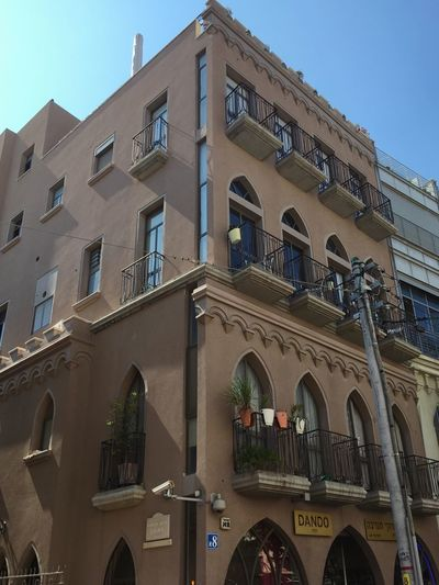 Architecture Building Exterior Built Structure Window Low Angle View Arch Balcony Façade Clear Sky Day Outdoors No People City Sky