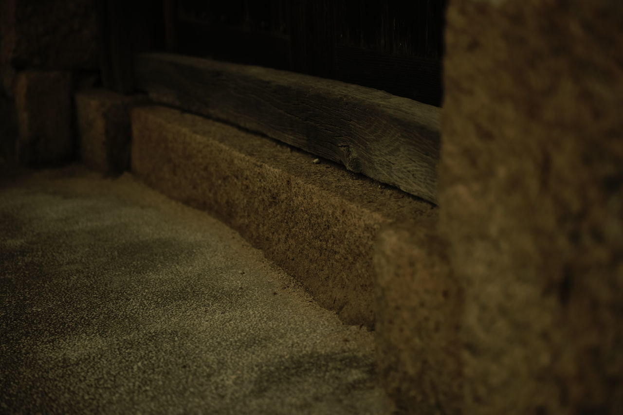 High Angle View Of Sand And Doorway