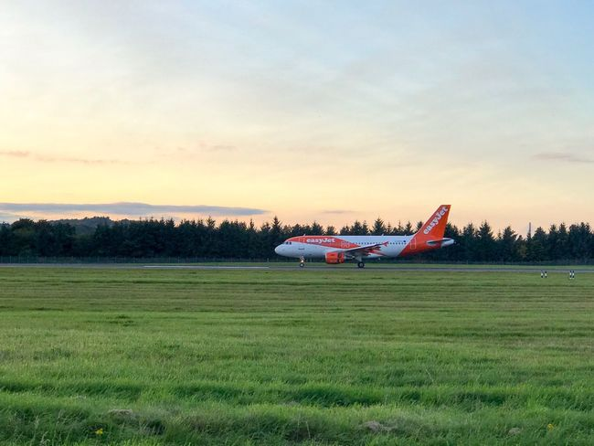 EasyJet Airbus Edinburgh Airplane Airport Travel Aircraft Runway
