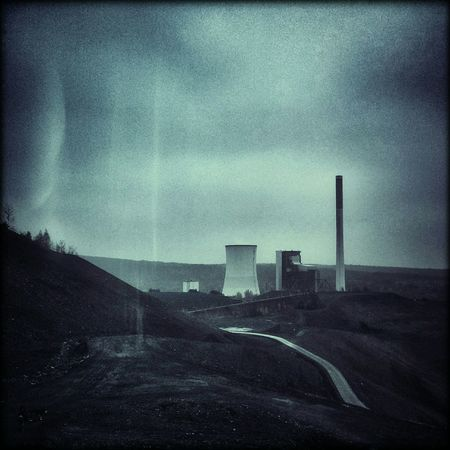 weg zum turm Industrial Landscapes Industrialbeauty Industrial Dark Edit Tower Industrialchimney Landscape Monochrome Bkue
