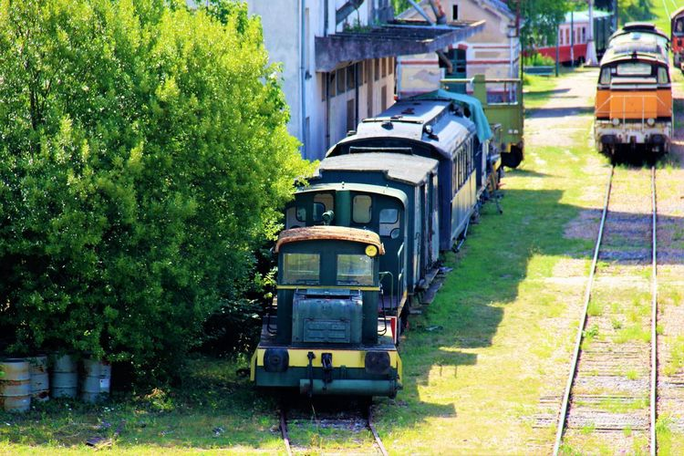 Normandie Normandie, France Old Train Station Grass Mode Of Transport No People Old Trains Outdoors Transportation
