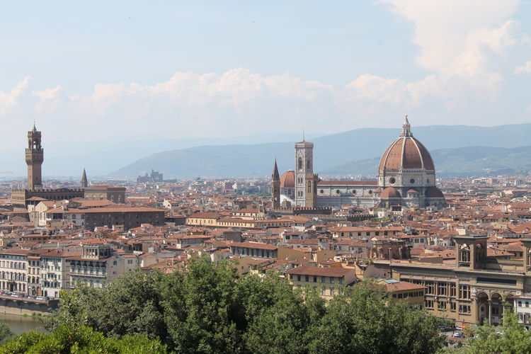 Architecture Building Exterior City Cityscape Cultures Day Dome Florence Italy Frainf Medieval No People Old Town Outdoors Place Of Worship Religion Sky Sunset Travel Destinations Tree Urban Skyline Your Ticket To Europe