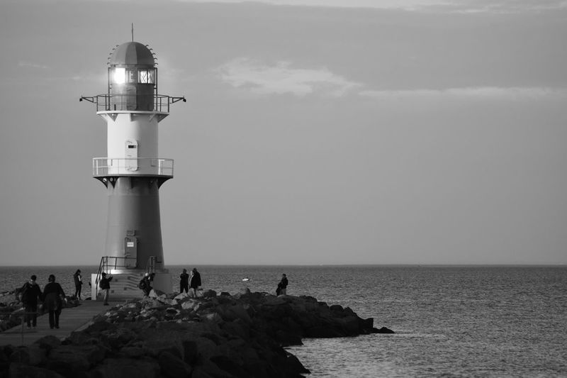 Warnemünde Leuchtturm Water Horizon Horizon Over Water Tower Built Structure Nature Lighthouse Outdoors First Eyeem Photo
