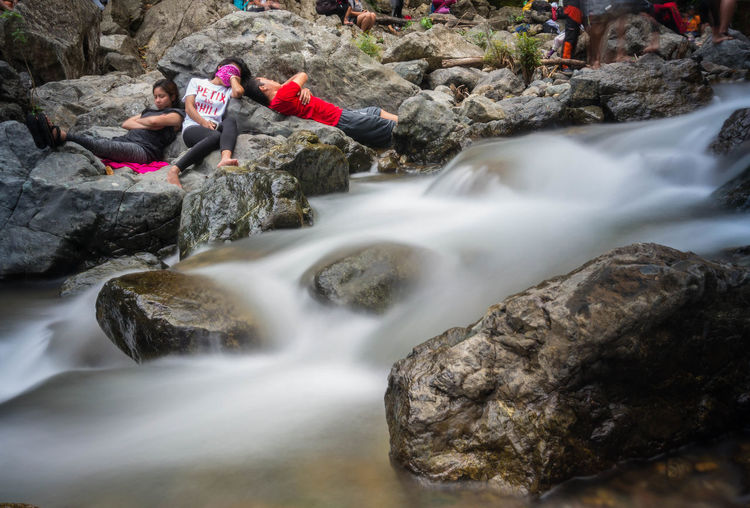chill Philippines Peace Relax Water Motion Adventure Rock - Object Waterfall Stream Long Exposure Falling Water Flowing Water Stream - Flowing Water Rock