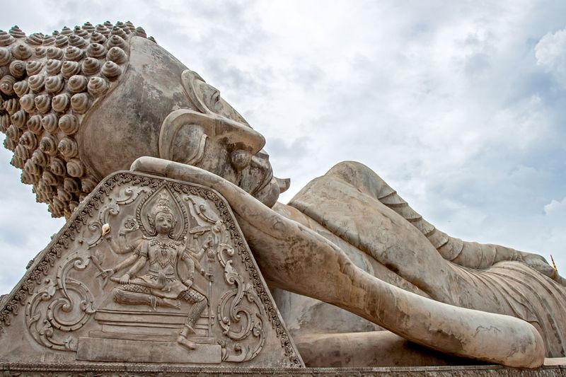 This is reclining buddha, laos