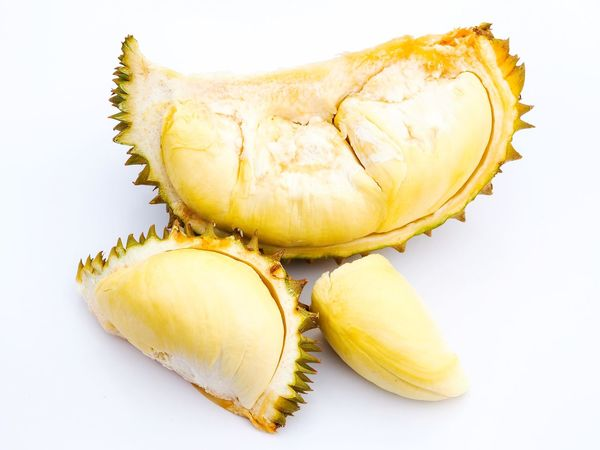 Durian king of fruit Food Fruit Food And Drink Healthy Eating Cross Section Freshness No People Close-up White Background Ready-to-eat Day Backgrounds Durian Tree Yellow Freshness King Of Fruit Durian Durian Fruit Spiked Beauty Lifestyles Tree Nature