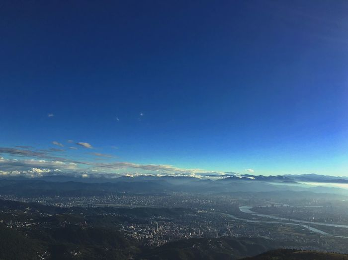 前進與後退 Blue Sky Mountain Nature