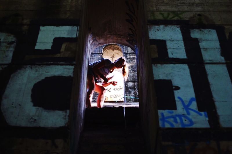 Unfocused Joy // Geneva Urban Exploration Portrait Exploring New Ground Bridge