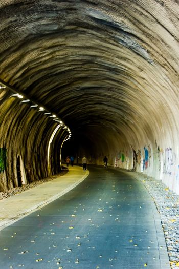 Nordbahntrasse EyeEm Best Shots EyeEm Selects EyeEm Gallery Direction Arch The Way Forward Tunnel Architecture Diminishing Perspective Road Built Structure Transportation Empty Day No People vanishing point Curve Illuminated Footpath Indoors  In A Row City Light At The End Of The Tunnel