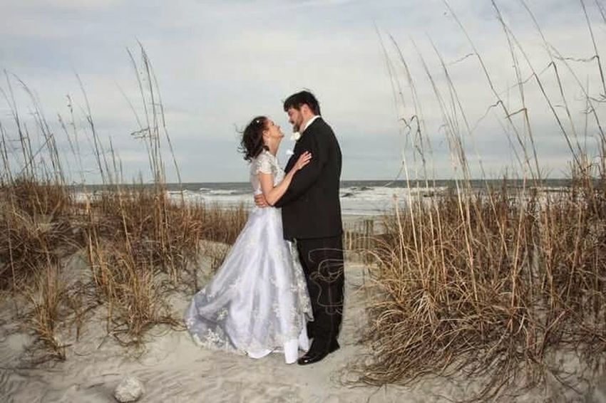 Me and my husband. Weddingphotography I Married My Best Friend Life Is Good Enjoying Life At The Beach Wedding Day Happyday Feeling Thankful Loving Life! Beautiful Surroundings