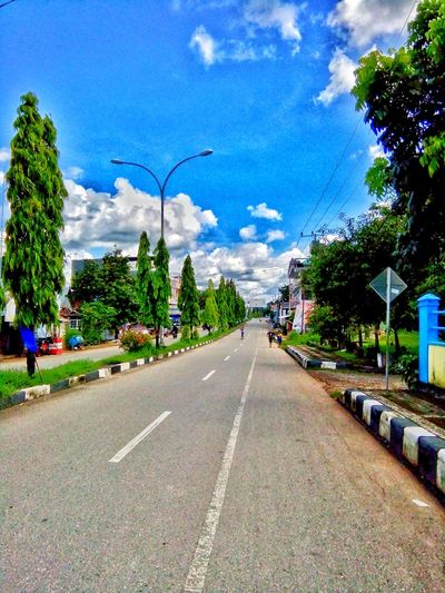 no caption Belajarphotography Fotography Nature Photography Jalansebentar Road The Way Forward Transportation Tree Day Cloud - Sky Street