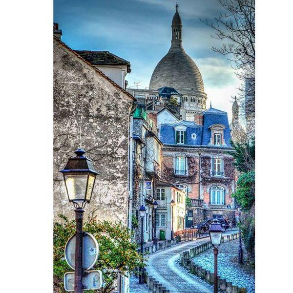 Looking towards Sacre Coeur in the Montmartre neighborhood of Paris. Travelgram Seetheworld  Traveltheworld Instatravel Tv_travel Traveldeeper Passionpassport Bestplaces_togo Igworldclub Ig_worldclub Exploringtheglobe Lonelyplanet Theglobewanderer Ig_europe Parisjetaime Parismonamour Topparisphoto Igersparis Igparis Igersfrance Igfrance Instaparis Parismaville Parisphoto Loves_cityscapes total_city rsa_streetview everyshots loves_architecture